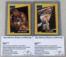 2017 Leaf Buyback Wrestling Sid Vicious/Lex Luger Autograph Cards 1991 Impel WCW