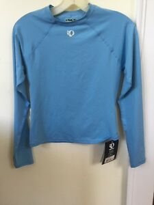 New Women's Pearl Izumi Stratum Long Sleeve Base Layer Size Small Blue