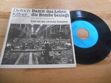"""7"""" sociopolitici Dietrich Kittner-per la vita D bomba sconfitto (2) canzone Stockfisch"""