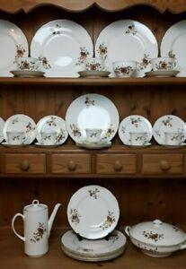 Royal Worcester Golden Harvest Bone China Tea Set Dinner Service c1960/70s VGC
