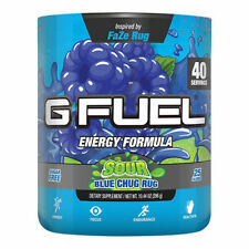 G Fuel Gtb-Cr1 Sour Blue Chug Rug­ Tub 10.44 Oz Energy Formula - 40 Servings