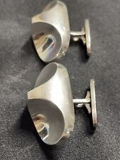 #112 - Ibe Dahlquist Georg Jensen Sterling Modernist Cufflinks