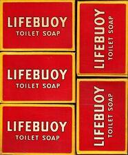 5 x Vintage LIFEBOUY Toilet Seife - Original - unbenutzt - for Toilet and Bath