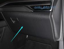 Carbon Fiber leather Storage Box Anti Kick Pad Trim For Cadillac XT4 2018 2019
