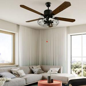 """52"""" Ceiling Fan Light 5 Wood Blades Chandelier Fan w/ Remote Control Living Room"""