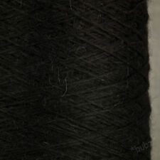 GORGEOUS SOFT 100% PURE BABY ALPACA YARN 250g CONE 5 BALLS BLACK KNITTING WOOL