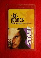 "JUANES ""mi sangre"" WORLD TOUR 2005 STAFF PASS / ALL ACCESS LAMINATED PASS. NICE!"