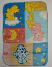 VTG Care Bears Baby Blanket Plush Thick Crib Throw 2004