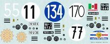 decal 1/18 FERRARI 250 TdF 4 DIVERSE GARE (4 FOGLIETTI)  ATELIER CAR MODEL DE069