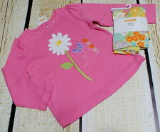 NWT Gymboree Butterfly Blossoms pink daisy top 2T & green flower leggings 3T set