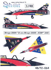 "Syhart Decals 1/48 French MIRAGE 2000N ""20 YEARS OF MIRAGE 200N ASMP"" 2008"