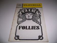 1972 WINTER GARDEN PLAYBILL - FOLLIES - ALEXIS SMITH GENE NELSON DOROTHY COLLINS