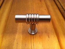 NEW SATIN NICKEL 40MM RINGED BAR KNOB CABINET KNOBS LIBERTY HARDWARE FREE SHIP