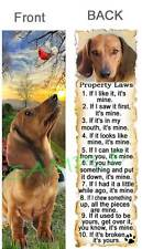 DACHSHUND DOG RULES Property LAWS BOOKMARK Brown Doxie Book Mark Hot Art Card