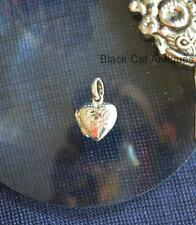 Vintage Fancy .925 Sterling Silver Puffy Heart Hinged Locket Charm