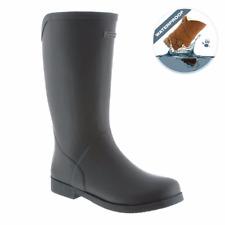 BEARPAW Myrtle Women Slip On Rubber Rain Boots Black (1853W)