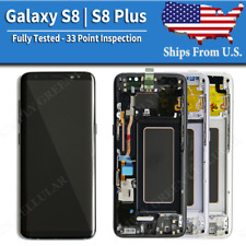 Samsung Galaxy S8 | S8 PLUS LCD Replacement Display Digitizer + Frame (SBI)