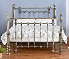 LAVISH VICTORIA BRASS FINISH SOLID METAL BED FRAME IN 5FT KING SIZE  + FREE P&P