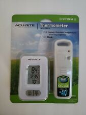 Acurite Wireless Indoor/Outdoor Thermometer with Clock NEW free shipping