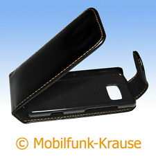 Flip Case Etui Handytasche Tasche Hülle f. Nokia 700 (Schwarz)