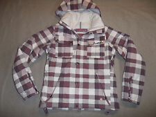 BURTON SKI SNOW JACKET GEO 3/2 INSULATED HOOD VENTS DUSTY ROSE WOMEN'S S ~GREAT