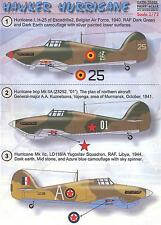 Print Scale Decals 1/72 HAWKER HURRICANE British WWII Fighter