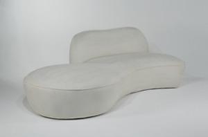 Vladimir Kagan Serpentine Cloud Sofa by American Leather