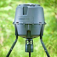 30 Gallon Hunting Tripod Deer Feeder Hopper + Digital Timer Bait Durable