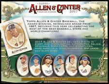 2017 Allen and Ginter #1 - #350 - Pick From List - Complete your Set