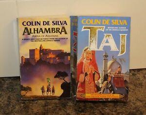 Colin De Silva x2 Books Alhambra & Taj Medieval chivalry & exotic 17th cen India