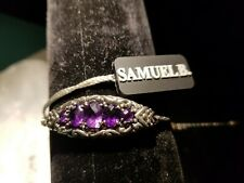 Amethyst Sterling Silver Samuel B. Bracelet Beauty  New
