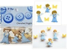 DRESS IT UP NOVELTY BUTTONS - 8979 CHERISHED ANGELS & BUTTERFLIES - POSTAGE DEAL