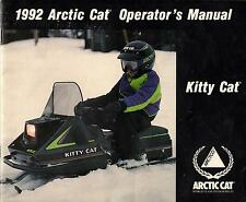 1992 ARCTIC CAT SNOWMOBILE KITTY CAT OPERATOR MANUAL P/N 2254-705 (224)