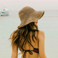 Sun Hats Wide Brim Floppy Summer Hats Women Beach Panama Straw Hats Bucket Hat
