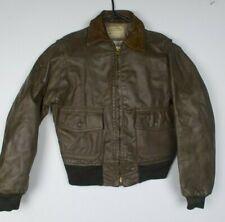 Vintage Schott I-S-674-MS Brown Leather Flight Bomber A2 Jacket Size 42
