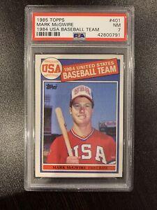 1985 Topps Mark McGwire USA ROOKIE RC #401 PSA 7 NM