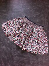 Jack Wills Skirt Size 8 Floral Lined Pockets Navy Red Pink Elasticated WAist