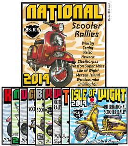 2014 NATIONAL SCOOTER RALLY PATCHES BSRA SCOOTERBOY SCOOTERIST MOD SKIN SKINHEAD