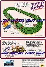 Scalextric JUMP JOCKEY VINTAGE jj300 jj500 a3 dimensione Poster Pubblicità opuscolo sign