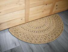 Eco floor mat, door, bedside semicircular rug from jute Handmade