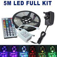 5M RGB waterproof SMD 300/LED Light Strip Flexible Ribbon Tape lamp DC12V 3528