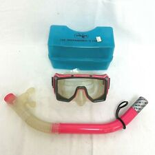Diving Mask Pink Goggles with Snorkel & Case