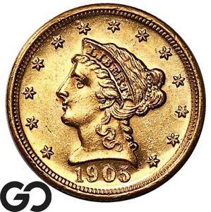 1905 Quarter Eagle, $2.5 Gold Liberty, PROOF-Like Look, Choice BU++ ** Free S/H!