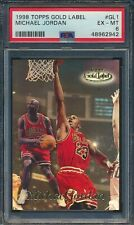 1998 Topps Gold Label Michael Jordan Chicago Bulls #GL1 PSA 6 EX-MT