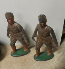 VTG BARCLAY MANOIL WWII LEAD TOY SOLDIERS 4 CARRYING INJURED MAN ON STRETCHER