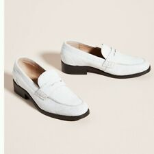 NEW Anthropologie by Liendo by Seychelles Embossed Leather Classic Loafers  US 7