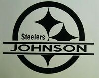 Pittsburgh Steelers Custom Decal Your Name Your Text Tailgating Sticker Football