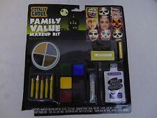 Halloween Makeup Kit Cream Makeup, Crayons, Eye Pencil, Sponges, Tooth Wax #2109