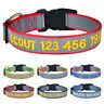 Personalized Dog Collar Nylon Custom Embroidered Super Reflective Adjustable XSL