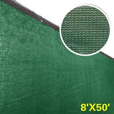 8' x 50' Fence Windscreen Privacy Screen Shade Cover Fabric Mesh Tarp, Green